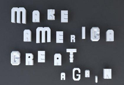 Make America great again by Xia Li, Hesse Class, Prof. Klaus Hesse